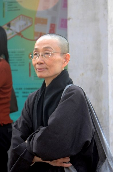 File:Taiwanese Buddhist Nun Black Robes.jpeg
