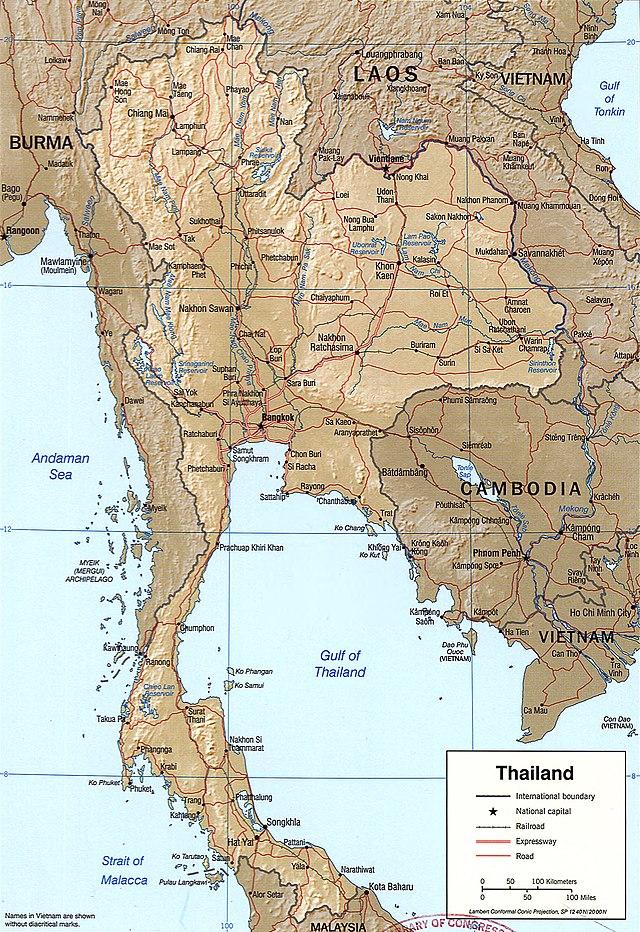 Tanah Genting Kra Terletak Di Negara : tanah, genting, terletak, negara, Geografi, Thailand, Wikiwand