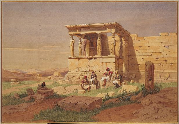 Werner Carl-Friedrich - The Prostasis (portico) of the Caryatids on the Erechtheion - Google Art Project