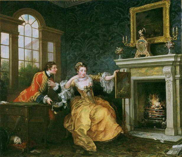 """The Lady's Last Stake"" by William Hogarth"