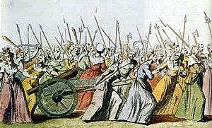 Women's March on Versailles, 5-6 october 1789....