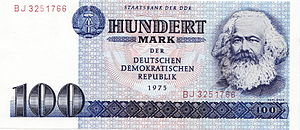 Billet de banque à l'effigie de Karl Marx