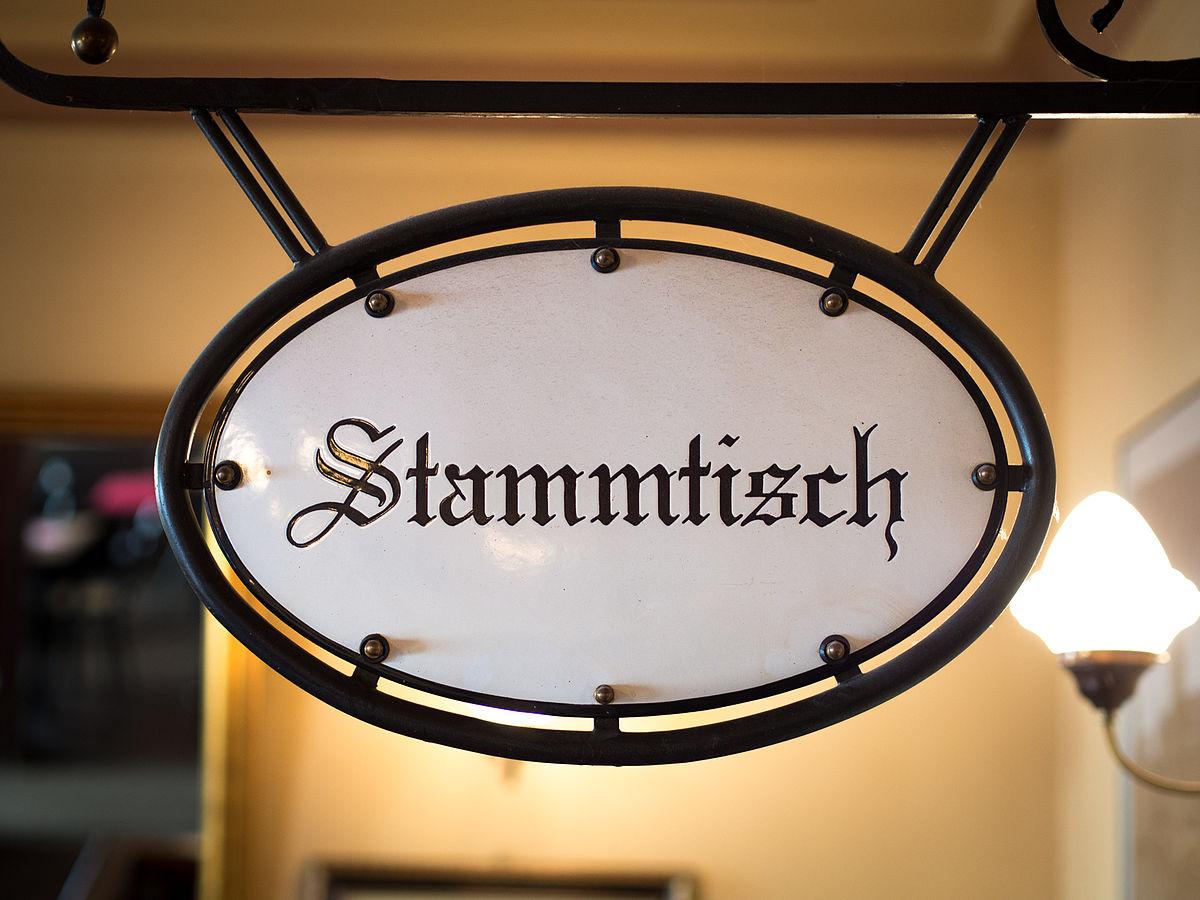 2013 Stammtisch sign Munich pub.jpg