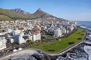 English: Aerial View of Sea Point, Cape Town S...