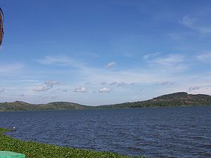 This is a picture of Lake Victoria as it appea...