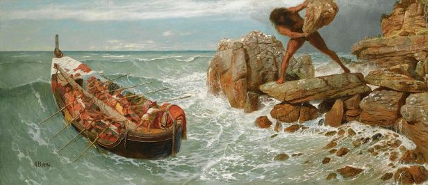 Arnold Böcklin - Odysseus and Polyphemus