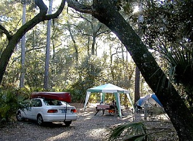 Car Camping at Hunting Island State Park, Sout...