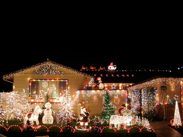 Holiday photos of your home's Christmas lights