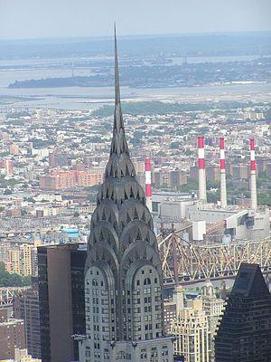 Chrysler Building top in New York City, photog...