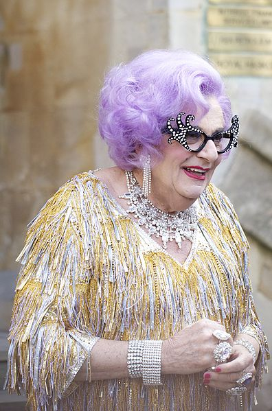 File:Dame Edna at the royal wedding cropped.jpg