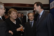 Rajoy with Chancellor of Germany Angela Merkel in March 2007