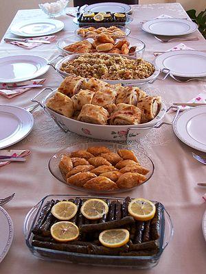 Dolma, Baklava, Gözleme, Pilav, Fincan-böreği,...