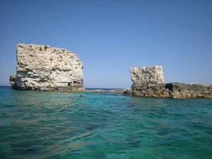Two Rocks: I due frati, Siracusa, Italy