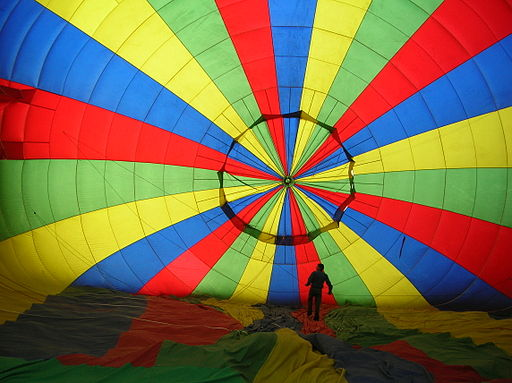 Intérieur montgolfière