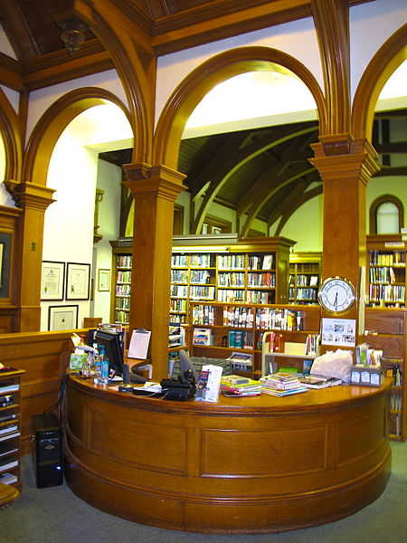 Photo of library circulation desk