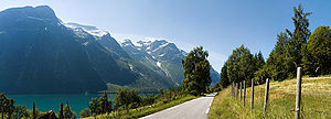 English: Lodalen, a valley in Stryn municipali...