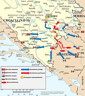 English: Map of Operation Schwarz against yugo...