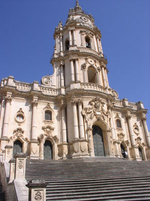 A baroque church in Modica