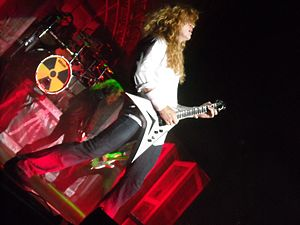 Dave Mustaine of Megadeth performing at the Iz...