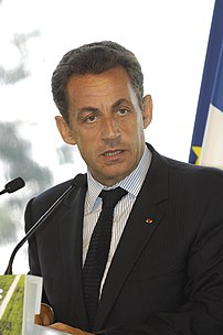 Nicolas Sarkozy, a watermark was present that ...