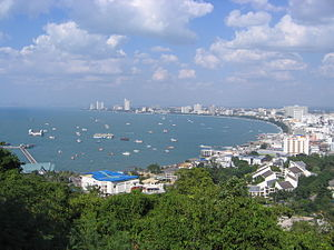 English: Pattaya beach from view point Русский...