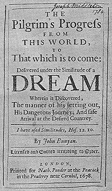 Pilgrim's Progress first edition 1678.jpg