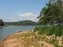 Lake Lanier at River Forks Park in Gainesville...
