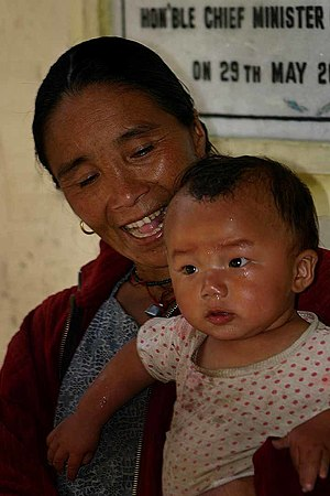 Mother and child, Sikkim, India