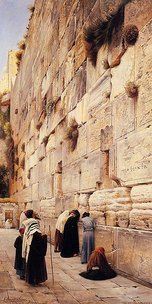 Gustav Bauernfeind: The Wailing Wall, Jerusalem