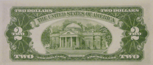 Reverse of Series 1953A $2 bill