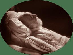 Victor Hugo deathbed portrait by Nadar, 1885