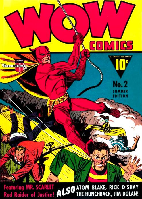 bad guys running from a super hero