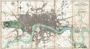 Map of London in 1806