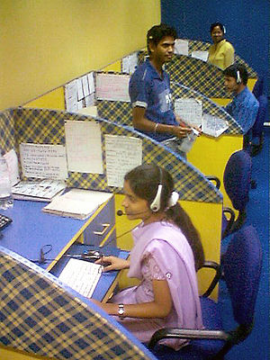 English: An Indian call center