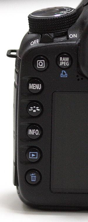 Canon EOS 7D, buttons.