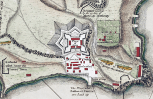 The fort's configuration is described in detail below.