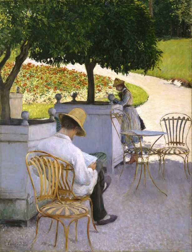 """The Orange Trees"" by Gustave Caillebotte"