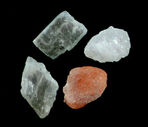 Himalayan rock salt crystals.