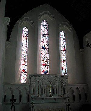 Holy Cross Church - east window - geograph.org...