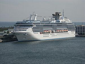 Cruise ship Island Princess moored in Port Eve...