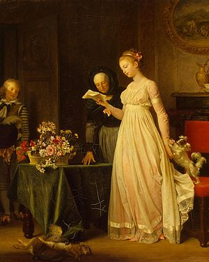 English: The Gift (oil on canvas) Français : L...