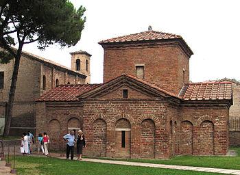 Mausoleum der Galla Placidia in Ravenna, Italien.