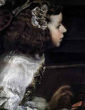 Detail of doña María de Sotomayor, showing Vel...