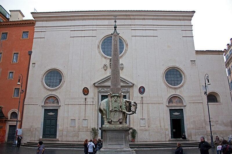 File:Minerveo obelisk and Santa Maria sopra Minerva 2010 2.jpg