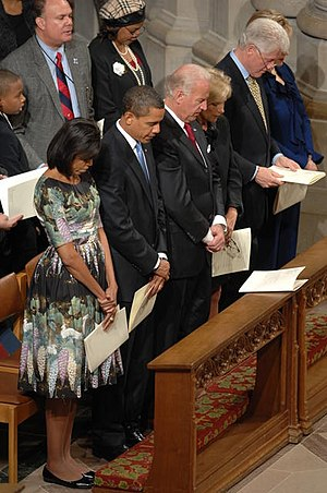 From left to right, First Lady Michelle Obama,...