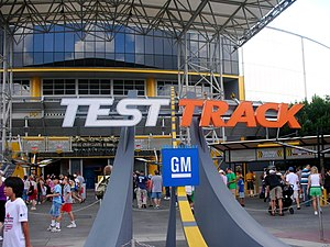 Test Track, a popular attraction at Epcot, at ...