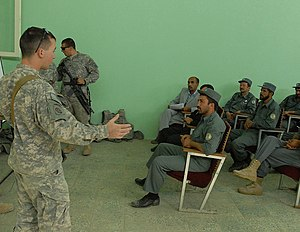 PARWAN PROVINCE, Afghanistan-A Soldier attache...