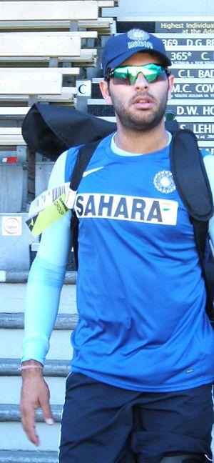 Yuvraj Singh at Adelaide Oval