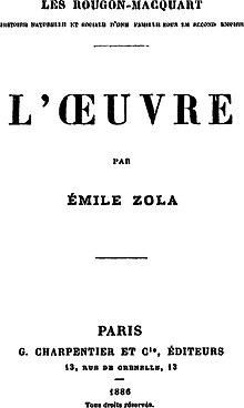 L'œuvre (émile Zola) : l'œuvre, (émile, zola), L'Œuvre, Wikipedia
