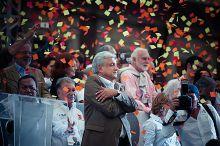 López Obrador at Zócalo in 2012